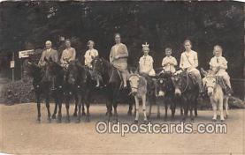 yan070034 - Real Photo Horseback & Muleback Riding Postcard Post Card