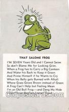 yan250002 - Salmoe Frog Postcard Post Card