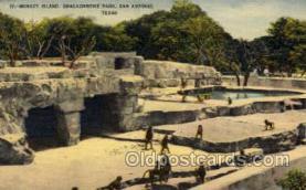 zoo001086 - Monkey Island, Brackenridge Park San Antonio, TX, USA Postcard Post Cards Old Vintage Antique